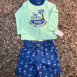 5149b21dac020 Carter's Baby Boy Swim Trunks and Rash Guard - 24M